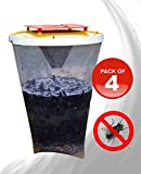 REDTOP Flycatchers Standard Size - 100% Non-Toxic Disposable Outdoor Fly Trap - Designed to Attract...
