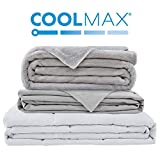 Degrees of Comfort Weighted Blanket w/ 2 Duvet Covers for Hot & Cold Sleepers|Advanced Nano-Ceramic...