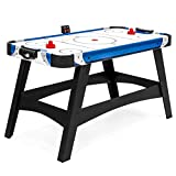 Best Choice Products 54in Large Air Hockey Table for Game Room, Office w/ 2 Pucks, 2 Pushers, LED...