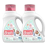 Dreft Stage 2: Active Hypoallergenic Liquid Baby Laundry Detergent for Baby, Newborn, or Infant, 50...