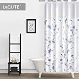 Lagute SnapHook Hookless Shower Curtain with Snap-in Liner | Bathroom Curtain with Removable PEVA...