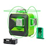 Huepar 3D Green Beam Self-Leveling Laser Level 3x360 Cross Line Laser Three-Plane Leveling and...
