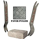 Keyfit Tools Paver Puller Stainless Steel (2PC Set) Paver Extraction Removal Raise Sunken Brick &...