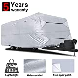 RVMasking Travel Trailer RV Cover 28'7'-31'6' L with Free Adhesive Repair Patch, Lightweight &...