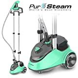 PurSteam Full Size Garment Fabric Steamer Professional Heavy Duty Industry Leading 2.5 Liter (85...