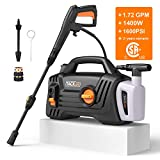 Pressure Washer, High Efficiency 1600 PSI 1.72 GPM 1400W Electric Power Washer, Lightweight and Easy...