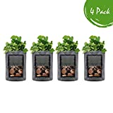 Grow Bags 10 Gallon 4 Pack l Garden Planting Smart Pots I Fabric Pots for Tomato and Planters I...