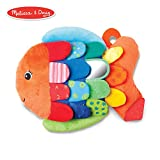 Melissa & Doug Flip Fish Baby Toy (Developmental Toy, Squeaker Tail, Shatterproof Mirror, Washable...