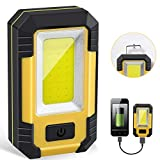 Portable LED Work Light, Rechargeable Waterproof Flood Light, COB Light with Magnetic Base Hanging...