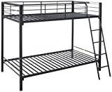 Zinus Patti Easy Assembly Quick Lock Twin over Twin Metal Bunk Bed / Quick to Assemble in Under an...