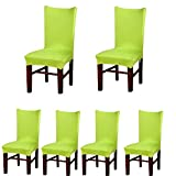 Deisy Dee Stretch Solid Color Chair Covers Removable Washable for Hotel Dining Room Ceremony Chair...