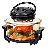 Best Choice Products 12L Electric Convection Glass Halogen Oven for Baking, Roasting, Steaming,...