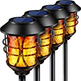 TomCare Solar Lights Metal Flickering Flame Solar Torches Lights Waterproof Outdoor Heavy Duty...