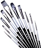 Adi's Art Pro Paint Brushes Set for Acrylic Oil Watercolor, Artist Face and Body Professional...
