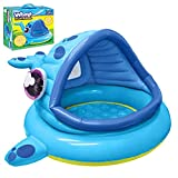 JOYIN Whale Baby Shade Beach Tent Kiddie Pool Play Tent (54' x 56' x 28') for Summer Blow Up Pool,...