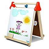 DISCOVERY KIDS 3-in-1 Tabletop Dry Erase Chalkboard Painting Art Easel, Includes Paper Roll and...