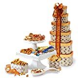 Broadway Basketeers Thinking of You Gift Tower with an Assortment of Gourmet Snacks, Sweets, Cookies...
