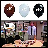 Chillkat IT is Your Birthday. (30) 10' Balloons, Brown, Gray, Black, The Office, Dwight Schrute