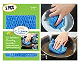 NO ODOR Dish Cloth for All Purpose Dish Washing (3PK) | No Mildew Smell from Sponges, Scrubbers,...
