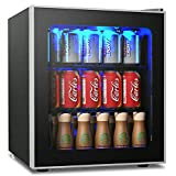 COSTWAY Beverage Refrigerator and Cooler, 60 Can Mini Fridge, Adjustable Removable Shelves, Perfect...