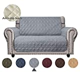 Ameritex Loveseat Cover Keep Your Couch Stain, Dirt & Scratches-Free (Pattern1:Light Grey,...