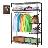 LANGRIA Heavy Duty Wire Shelving Garment Rack Clothes Rack, Portable Clothes Closet Wardrobe,Compact...