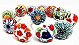 Artncraft 12 Pieces Set Dotted Ceramic Cabinet Colorful Knobs Furniture Handle Drawer Pulls (Design...