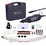 GOXAWEE Rotary Tool Kit with MultiPro Keyless Chuck and Flex Shaft - 140pcs Accessories Variable...
