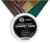 Strongest Double Sided Carpet Tape - Heavy Duty Rug Gripper Tapes for Mats, Rugs, Carpets and...