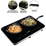 Ovente Induction Countertop Burner, Cool-Touch Ceramic Glass Cooktop with Temperature Control,...