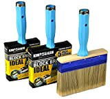 3 Piece (4,5,6inch) Heavy Duty Professional Stain Brush, Paint Brush,Paint Brushes, Double Thick 1.2...