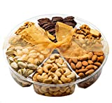 Gifts Basket-Healthy & Gourmet Snacks,Freshly Roasted 6 Mixed Nuts, Almonds, Pistachios, Cashews,...
