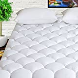 HARNY Mattress Pad Cover Queen Size 400TC Cotton Pillow Top Cooling Breathable Mattress Topper...