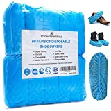 Strongman Tools | 120 Pack (60 Pairs) Extra Thick Disposable Shoe & Boot Covers | Durable & Water...