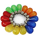 BRIMAX - S14 Colored LED Bulbs Plastic For Christmas Outdoor String Lights Replacement,...