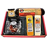 Classic Man Snack Gift Basket-Summer Sausage, Wisconsin Cheeses, Dipping Pretzels and Sweet & Tangy...