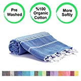 Realgrandbazaar Pestemal Turkish Towel %100 Cotton - Pre Washed , More Softly 39 x 69 Peshtemal,...