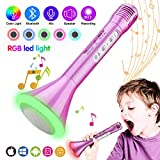 Kids Microphone, Wireless Portable Karaoke Microphone for Kids with Bluetooth Speaker and Colors...