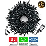 Diojilad LED Christmas Lights Outdoor Tree Lights Upgraded 105Ft 300LED UL Certified End-to-End...