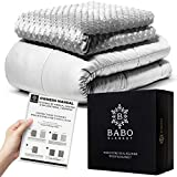 Mibio Cooling Weighted Blanket 15 lbs, 60x80 inch Queen Size, Cool Weighted Throw Anxiety Blanket,...