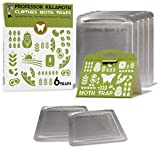 Clothes Moth Traps 6 Pack | Child and Pet Safe | No insecticides | Premium Attractant | Protect...
