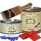Retique It RETQ Liquid Wood, Deluxe Starter Kit, LW-Lightwood