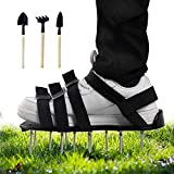 Mavicen Lawn Aerator Shoes with Zinc Alloy Buckles and 4 Adjustable Straps for Aerating Your Yard,...