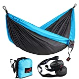 HONEST OUTFITTERS Double Camping Hammock with Hammock Tree Straps,Portable Parachute Nylon Hammock...