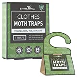 Greener Mindset Clothes Moth Traps 7-Pack with Premium Pheromone Attractant   Most Effective Trap...