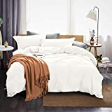 Dreaming Wapiti Duvet Cover King 100% Washed Microfiber 3pcs Bedding Set,Solid Color - Soft and...