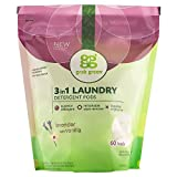 Grab Green Natural 3 in 1 Laundry Detergent Pods, Organic Enzyme-Powered, Plant & Mineral-Based,...