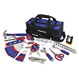 WORKPRO Home Repair Tool Kit with 3AAA COB Work Light and Compact Tool Bag, 54-Piece Household...