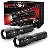 GearLight LED Tactical Flashlight S1000 [2 PACK] - High Lumen, Zoomable, 5 Modes, Water Resistant,...