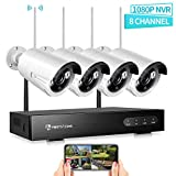 HeimVision Wireless Security Camera System Outdoor, 8CH 1080P NVR 4Pcs 960P 1.3MP Outdoor/ Indoor...